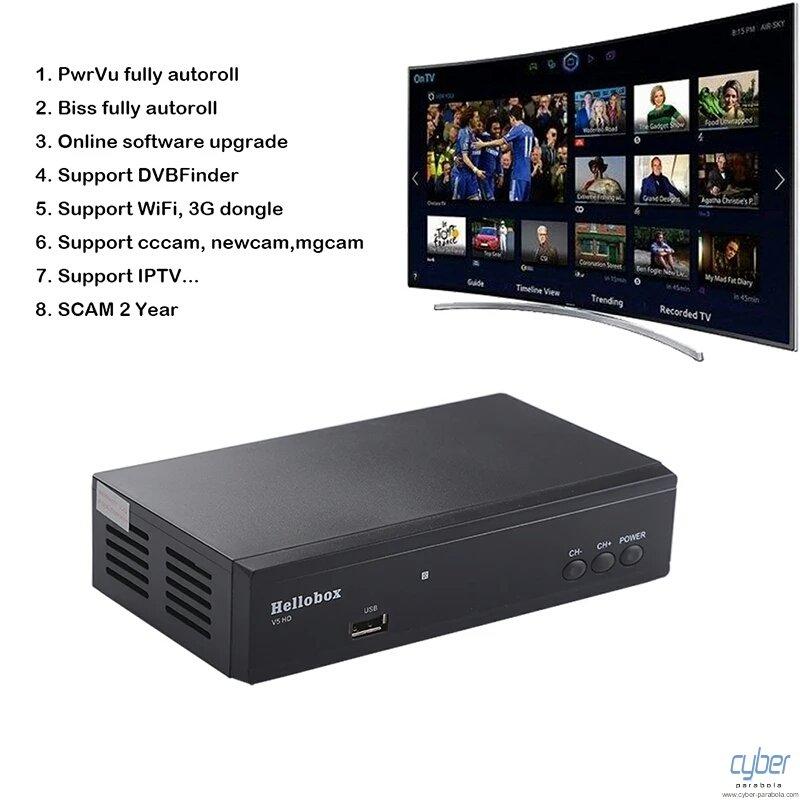 Hellobox V5 HD Satellite Receiver DVBS2 IPTV For Cccam